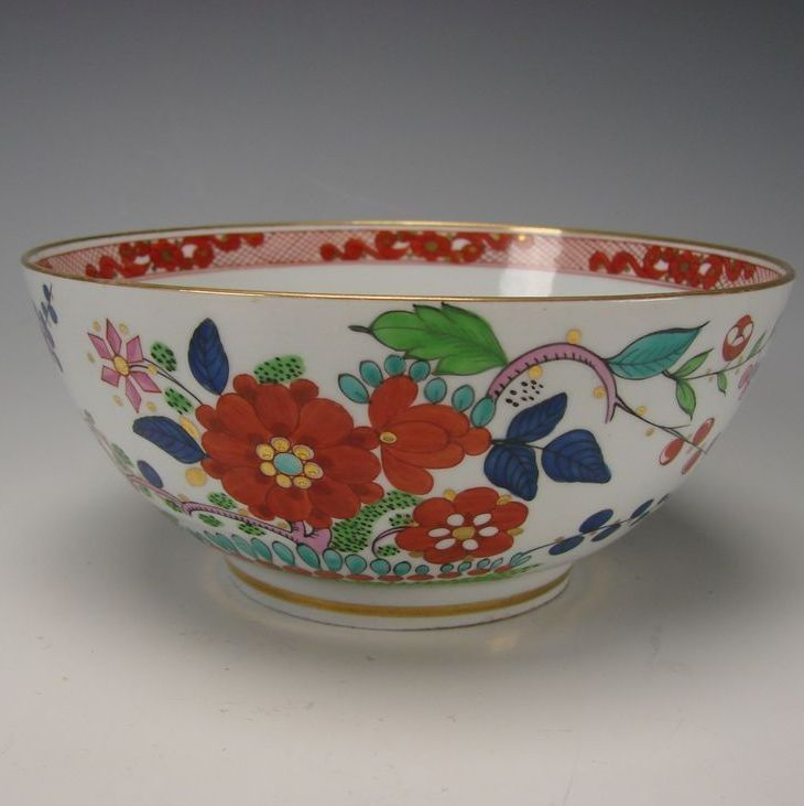 Antique English FBB Worcester Pearlware China Enamel Bowl c1790