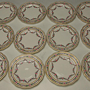 Antique George Jones China Works Pattern 23100 Wreath Style Side Plates