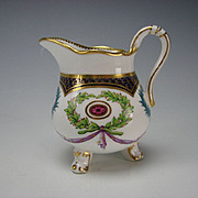 Antique Minton Sevres Style Porcelain Hand Painted Decorated Creamer