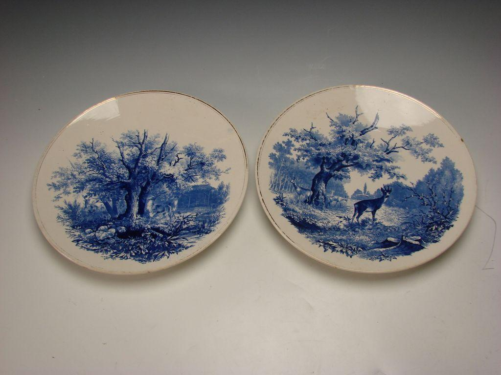 Antique villeroy and boch german pottery plates chargers for Villeroy and boch plates