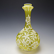 Fantastic GEM Thomas Webb Stourbridge Tall Cameo Glass Vase
