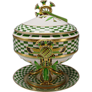 Antique Ginori/Doccia Porcelain Egyptian Pharoah's Memories Compote Tureen Lidded Vase Italian China
