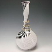 Huge Vintage Dino Martens Aureliano Toso Murano Glass Vase