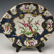 Antique 19c Samson Porcelain China 18c English Worcester Hand Painted Fish Plate