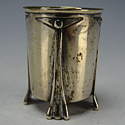 Austrian Sterling Art Deco Crafts Footed Shot Tumbler