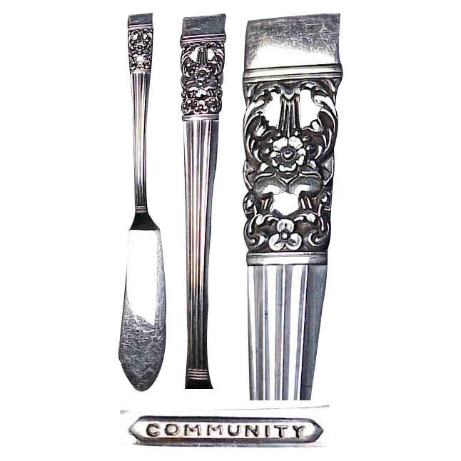 "Community ""Coronation"" Pattern (2) 6 & 7/8"" Butter Serving Knife"