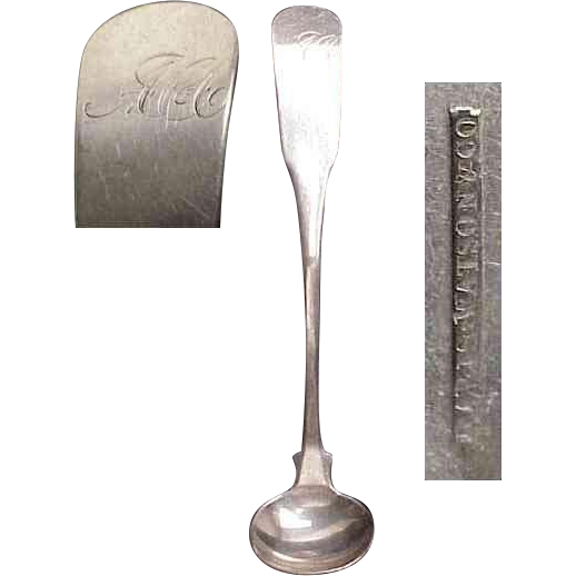 American Pre-1870's Coin Silver Mustard Ladle