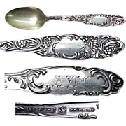 circa 1892 Towle Princess  Sterling Demitasse  Spoon