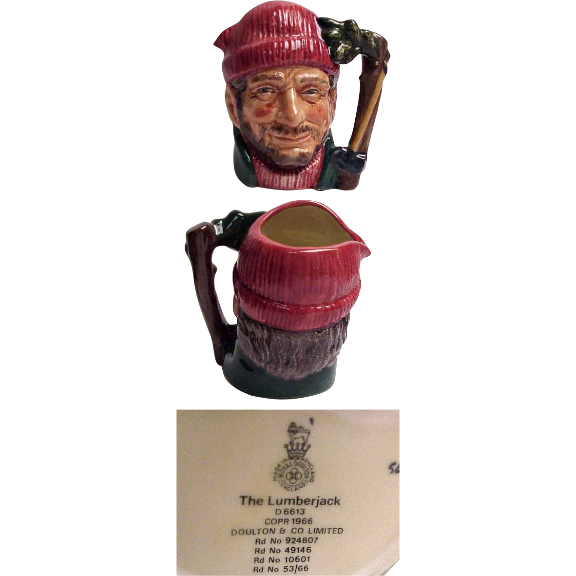 Royal Doulton Character Jug The Lumberjack Small Size