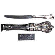 "Towle Old Colonial Sterling Silver Hollow Handle 8 3/4"" Knife"
