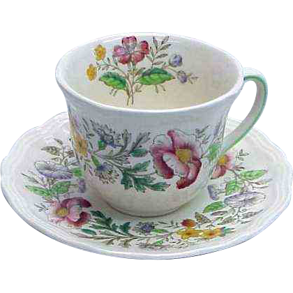 (2) Royal Doulton Stratford Pattern Demitasse Cups & Saucers