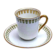 (3) Haviland Hot Chocolate Cups & Saucers