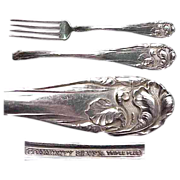 "Flower de luce aka Fleur de Luce pattern Silverplate Fork 7 3/8"" by Community"