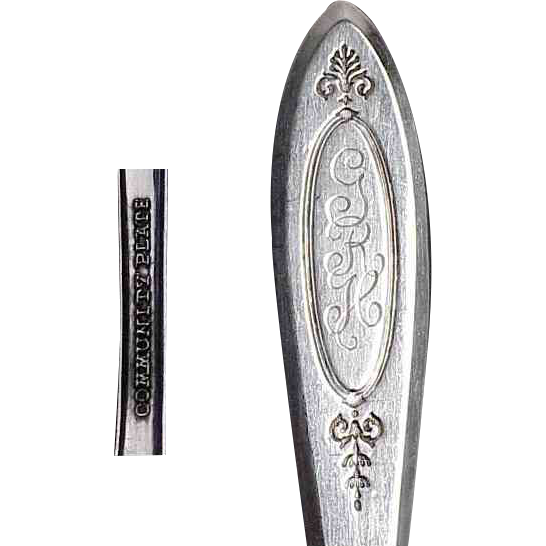 Adam Community Silverplate Pair of Luncheon Forks