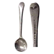 English Silverplated Salt Spoon