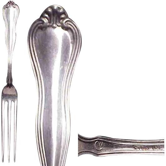 (2) Sterling Silver Richmond Pattern circa 1910 by Watrous Strawberry Forks