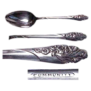 Community Plate Evening Star Pattern Table/Serving Spoon