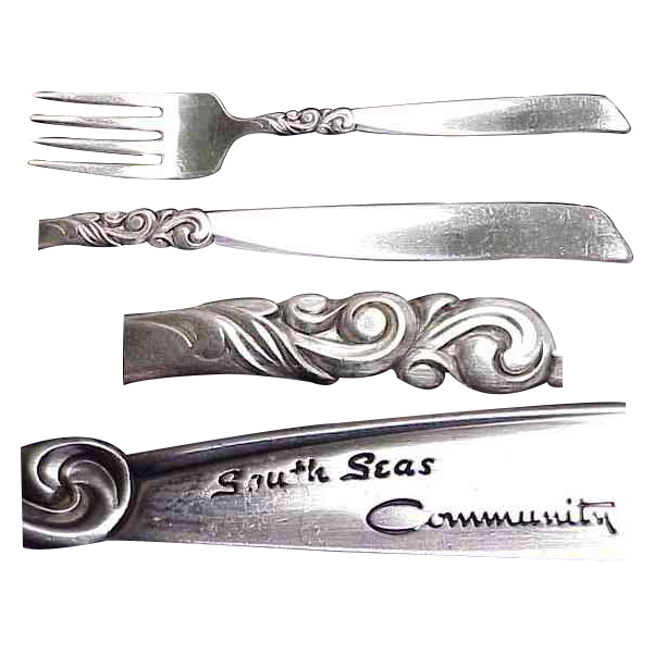Community Plate South Seas Pattern Salad/Dessert Fork