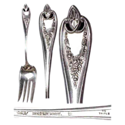 "1911 Large Meat Fork in the ""Old Colony Pattern "" by 1847 Rogers Bros."