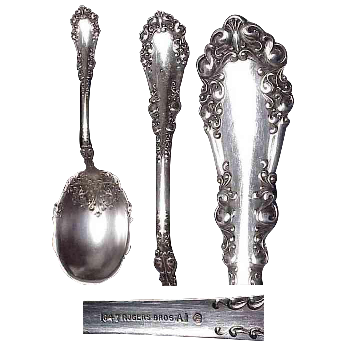 1897 Berkshire Pattern Berry Serving Spoon by 1847 Rogers Bros.