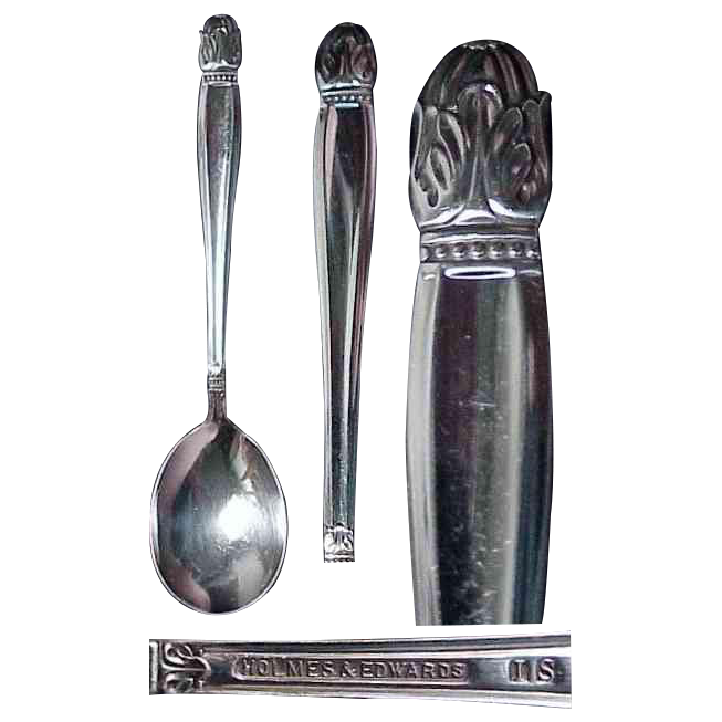 Holmes & Edwards Danish Princess Pattern Sugar Spoon
