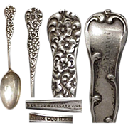 "Heavy 1888 Dominick & Haff Floral Rococo 6"" Sterling Silver Spoon"