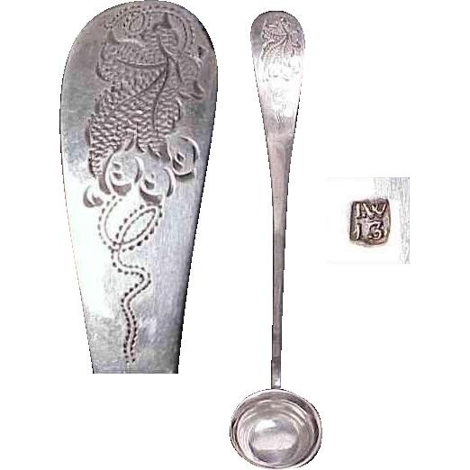 1850's European Silver Mustard Ladle