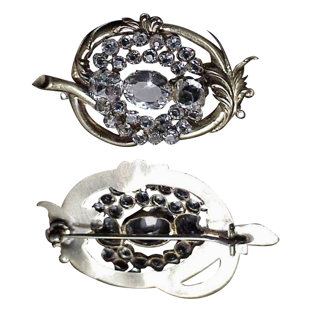 Exceptional Rock Crystal Brooch/Pin