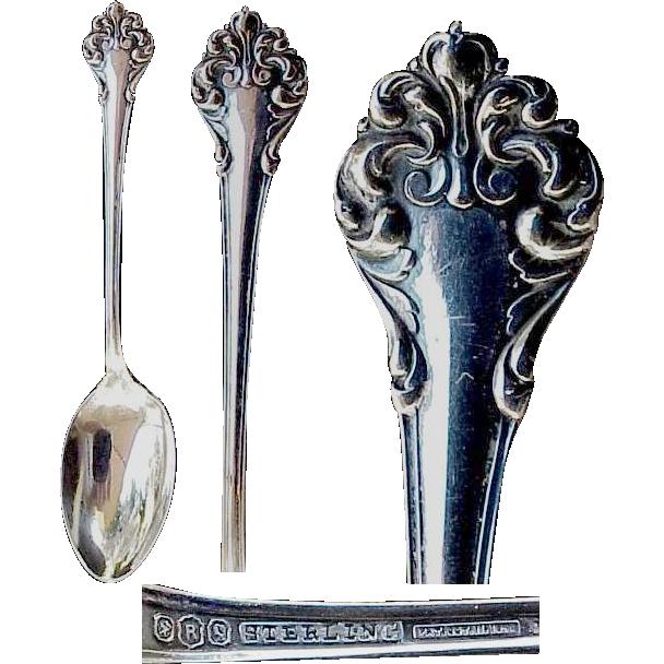 "Reed & Barton Sterling Demitasse Spoon "" L'Elegante"" aka ""Elegante ""Pattern"