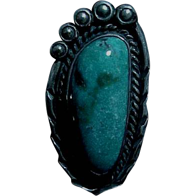 Sterling & Turquoise Ring Size 6
