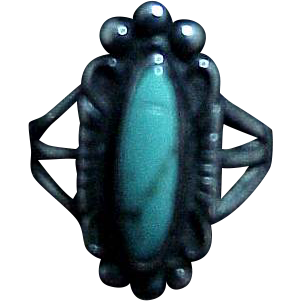 Sterling & Turquoise Native American Indian Ring