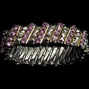 Pink Rhinestone Expandable Bracelet