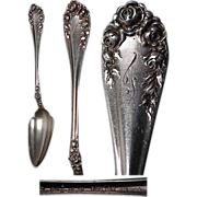 Wallace Sterling Silver Rose Pattern Fruit Spoon