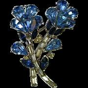 Floral Rhinestone Pin