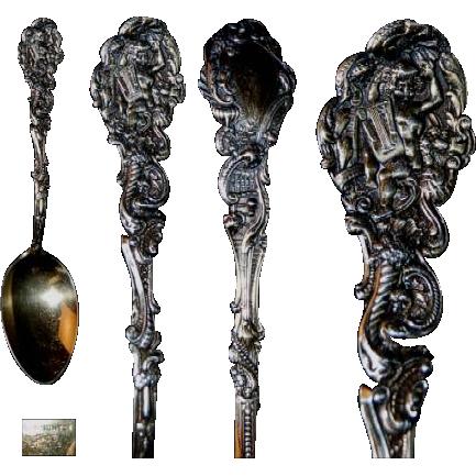 """Sterling Silver Gorham Versailles Gilt 6"""" Spoon"""