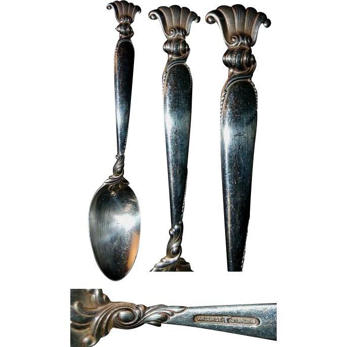 "Heavy Wallace Romance of the Sea 6 & 1/4"" Spoon"