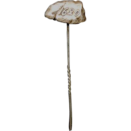 "Figural Sterling Stickpin "" Plymouth Rock """