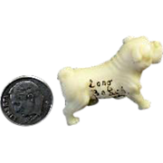 1920's Tiny Molded Plastic Dog Figurine Souvenir of Long Beach WA