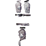 Figural Lady Sterling Matchsafe/Match Safe of Sarah Bernhardt