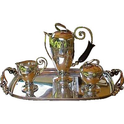 Rare & Heavy Alphonse La Paglia Sterling Coffee Service