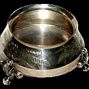 Antique ( 1881 ) Sterling Footed Salt