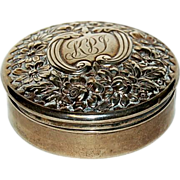 1900's Small Gorham Sterling Repousse Box