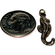 "Sterling Silver Charm For a Charm Bracelet of 3D "" Seahorse """