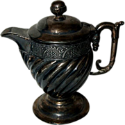 Fancy Victorian Barbour Bros. Co. Quadruple Plate Covered Pitcher