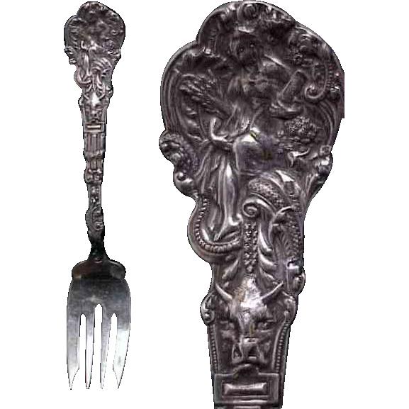 "Gorham Sterling  Versailles 6 & 3/8"" Salad/Dessert Fork"