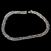 Flashy & Diamond like Kramer Rhinestone Necklace