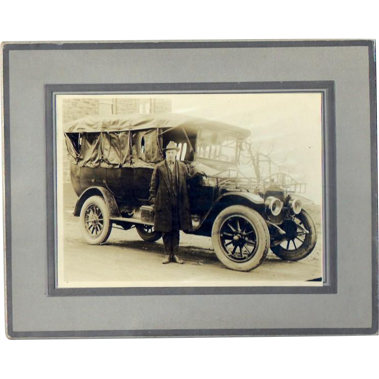 Antique Pre-1920's Transit Bus Photograph in the Northwest