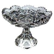 Petite 1890's Brilliant Period Cut-Glass Compote