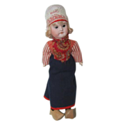 "1890's Bisque Dutch Girl Doll 11 1/2"" tall"