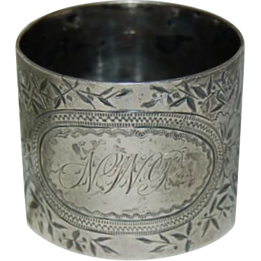Victorian Sterling Silver Napkin Ring